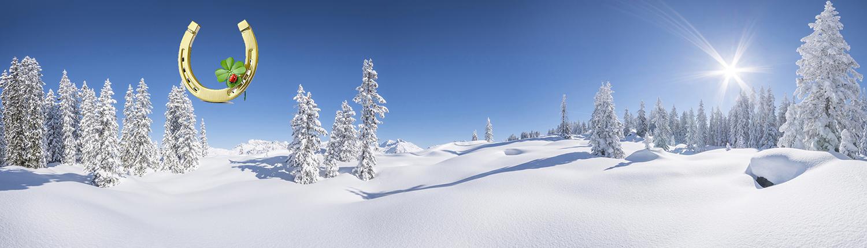 Winterpanorama mit Hufeisen